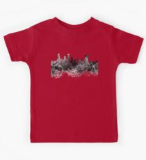 Beijing skyline in black watercolor on white background Kids Clothes