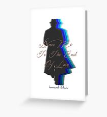 Dance Me to the End of Love Greeting Card