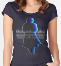 There is a crack in everything.That's how the light gets in Women's Fitted Scoop T-Shirt