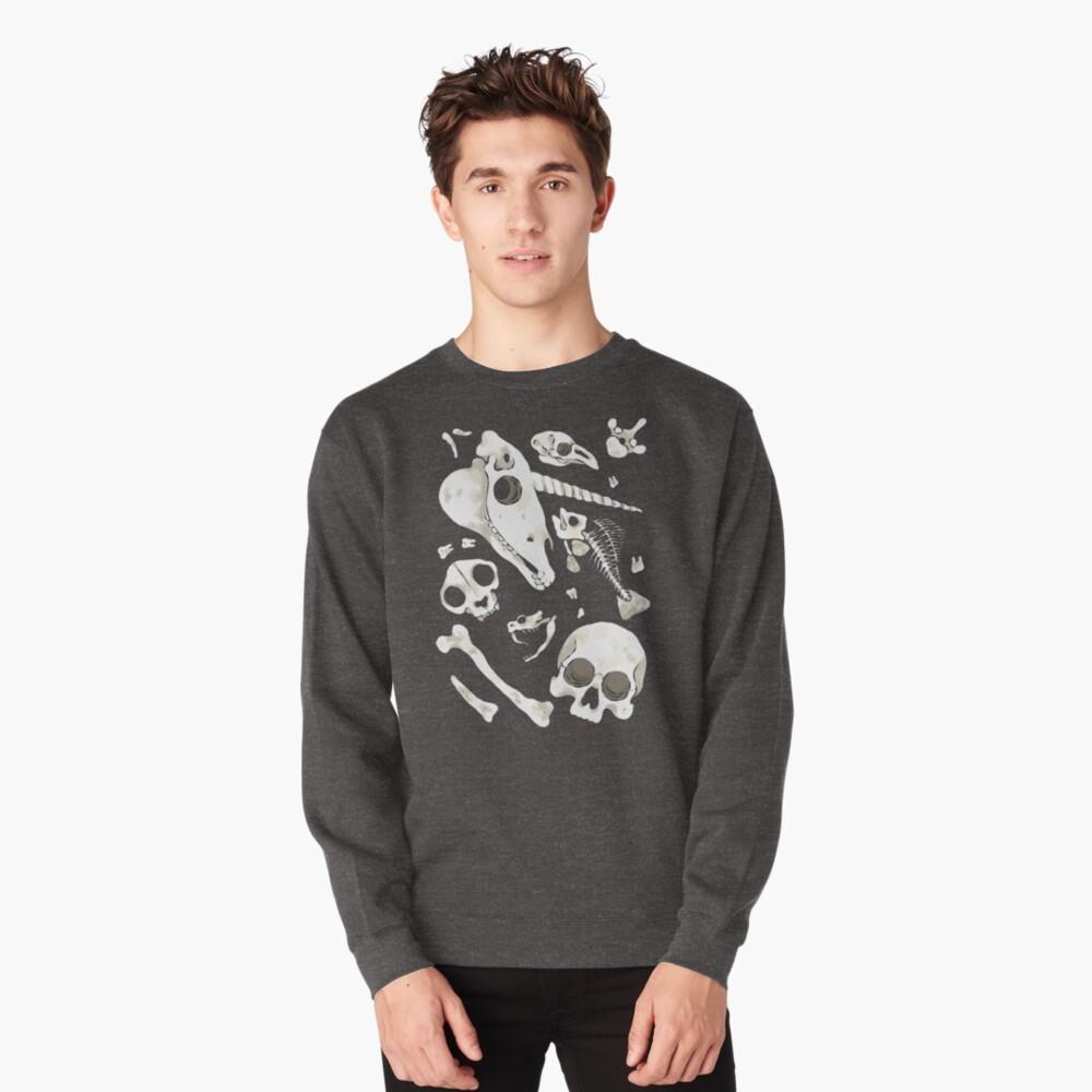 black Skulls and Bones - Wunderkammer Pullover Sweatshirt