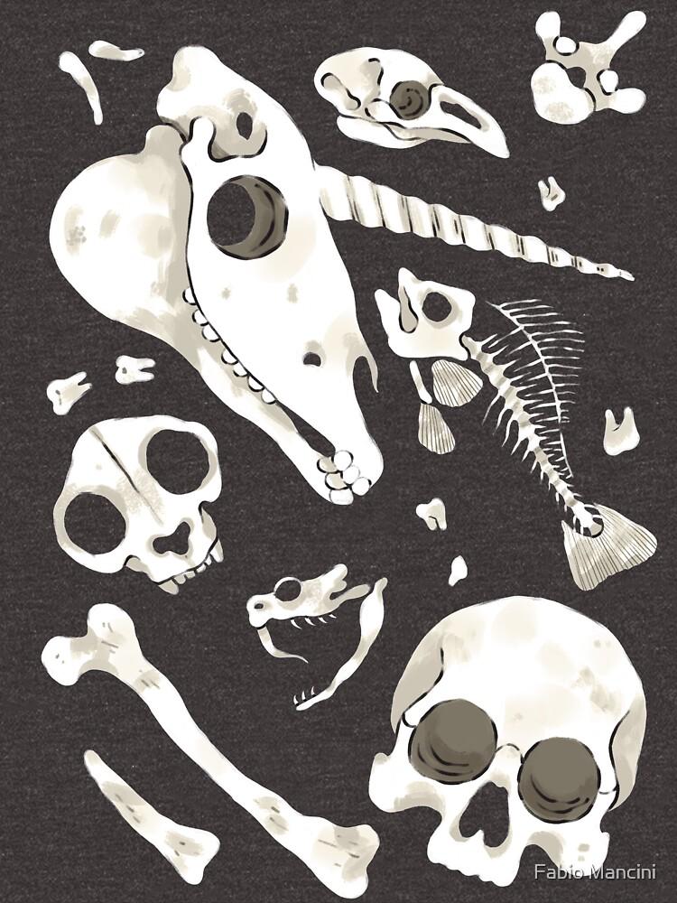 black Skulls and Bones - Wunderkammer by fabiomancini