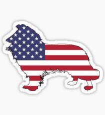 American Flag – Border Collie Sticker
