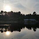 Reflected Sun Lake by Richard Winskill