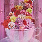 Tasse à thé (Roses) by Thea T