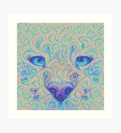 Ice Spirit #DeepDreamed Art Print