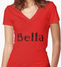 Bella  Women's Fitted V-Neck T-Shirt