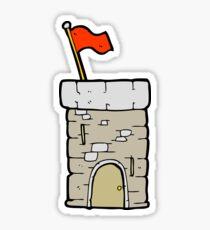 cartoon old castle tower Sticker
