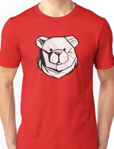 Robust bear logo black and red Unisex T-Shirt