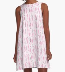 Atomic Kitties A-Line Dress