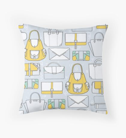 All you need in a bag. And then another bag... Throw Pillow