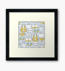 All you need in a bag. And then another bag... Framed Print