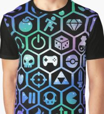 Gaming Hexagons Graphic T-Shirt
