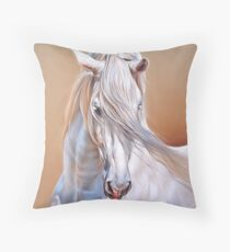 """Andalusian stallion"" - close-up Throw Pillow"