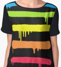 Trendy Cool Graffiti Tag Lines Women's Chiffon Top