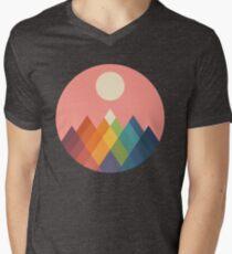 Rainbow Peak Men's V-Neck T-Shirt