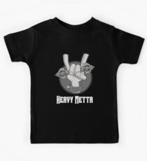 Heavy Metta - Dharma Metal horns (B/W) Kids Clothes