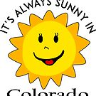 SUNSHINE SMILEY COLORADO FACE CUTE HAND DRAWN SMILE POPULAR STICKERS TOP DECAL SUN by MyHandmadeSigns