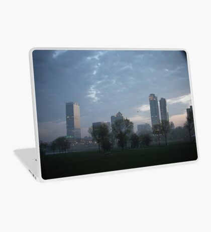 Milwaukee Cityscape with Clouds Laptop Skin