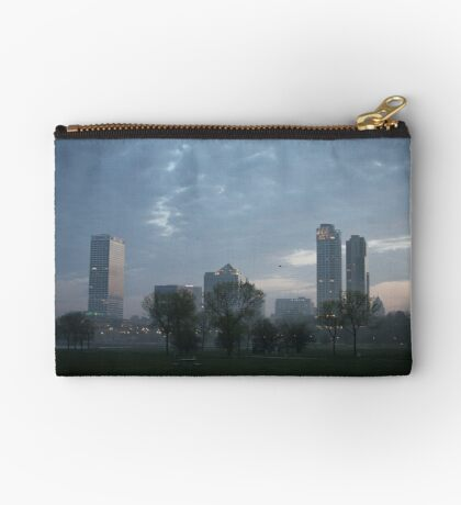 Milwaukee Cityscape with Clouds Studio Pouch