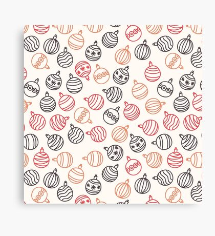 Christmas Baubles Pattern Canvas Print