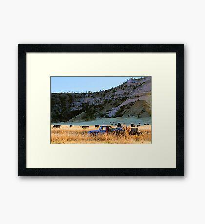 Midwest Scottsbluff Western Nebraska Panhandle  Framed Print