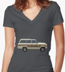Jeep Wagoneer Fitted V-Neck T-Shirt