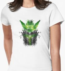 Rorschach Yoda Women's Fitted T-Shirt
