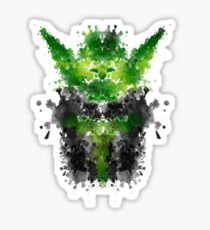 Rorschach Yoda Sticker