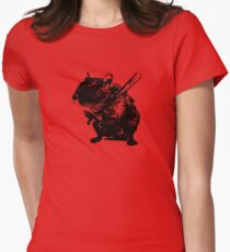 Angry mouse Womens Fitted T-Shirt