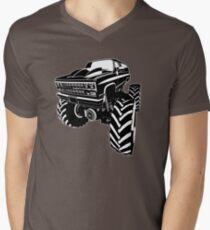 Monster Truck Mens V-Neck T-Shirt