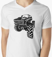 Monster Truck Mens V-Neck T-Shirt