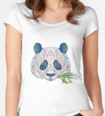 Ethnic Highly Detailed Panda Women's Fitted Scoop T-Shirt