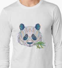 Ethnic Highly Detailed Panda Long Sleeve T-Shirt