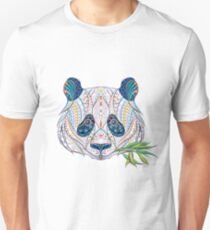 Ethnic Highly Detailed Panda Unisex T-Shirt
