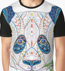 Ethnic Highly Detailed Panda Graphic T-Shirt