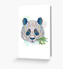 Ethnic Highly Detailed Panda Greeting Card