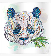 Ethnic Highly Detailed Panda Poster