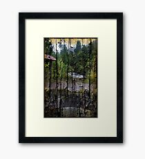 Rushing Cascade In The Andes - On Bark Framed Print