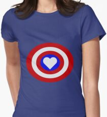 Heart of a Hero - The Captain Women's Fitted T-Shirt