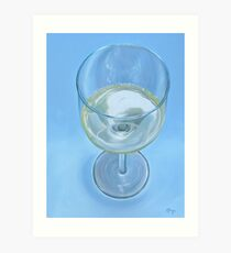 A Glass of Wine is Fine Art Print