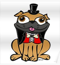 Pug in Tux Poster