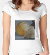 Garlic and Onions Women's Fitted Scoop T-Shirt