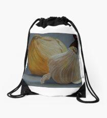 Garlic and Onions Drawstring Bag