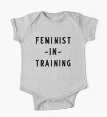 Feministin im Training Baby Body Kurzarm