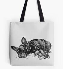 Sleepy French Bulldog Tote Bag