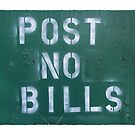 post no bills by Val Goretsky