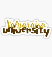 Valparaiso University ~text~ Sticker