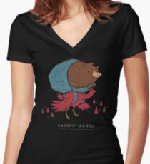 role reversal Women's Fitted V-Neck T-Shirt