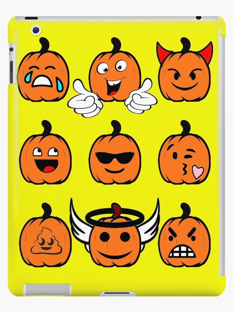 Cute Funny Thanksgiving Pumpkin Halloween Emojis T Shirt Holiday ...