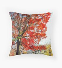 Little Red Tree, Central Park Throw Pillow